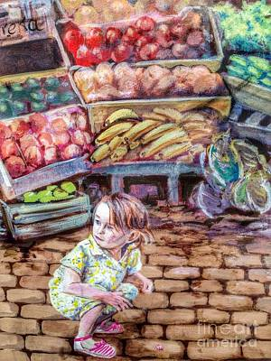 Photograph - Little Market Girl  by Susan Garren