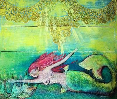 Painting - Little Mermaid  by Michaela Kraemer