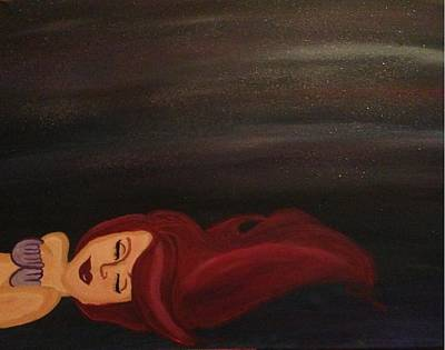 Naiad Painting - Little Mermaid by Oasis Tone