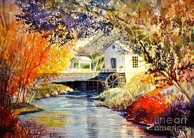 Sun Rays Painting - Little Mill by Marilyn Smith