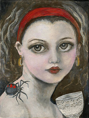 Little Miss Muffet  Original by Annora Anne