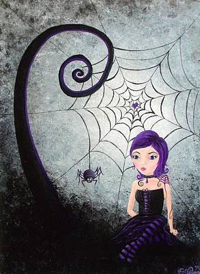Little Miss Muffet Art Print by Oddball Art Co by Lizzy Love