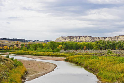 Fantasy Royalty-Free and Rights-Managed Images - Little Missouri River West Of Medora_ by T. C. Knight