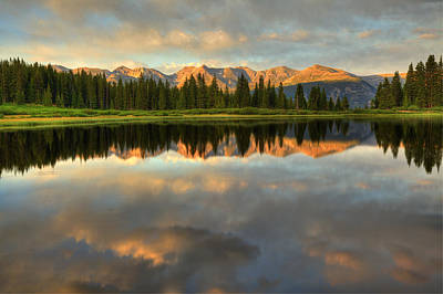 Photograph - Little Molas Lake At Sunset by Alan Vance Ley