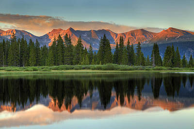 Photograph - Little Molas Lake Sunset 2 by Alan Vance Ley