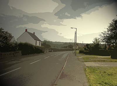Little Morton Road In North Wingfield, Heading Art Print by Litz Collection
