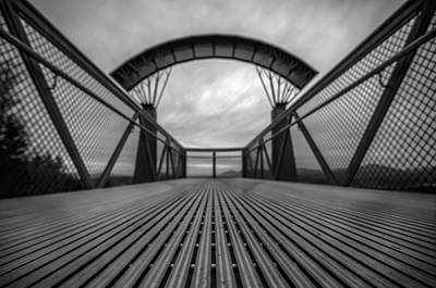 Puget Sound Photograph - Little Mountain Sky Bridge by Puget  Exposure