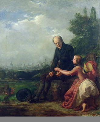 Curiosity Painting - Little Nell And Her Grandfather by William Holman Hunt