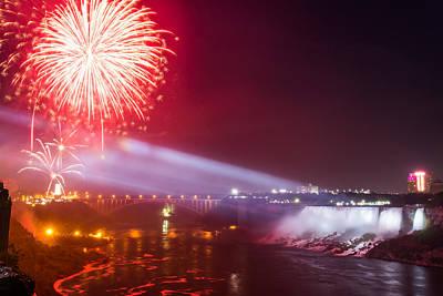 Little Niagara Falls Fireworks Art Print by James Wheeler
