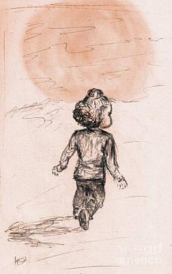 Frida Drawing - Little Noa by Frida Morris