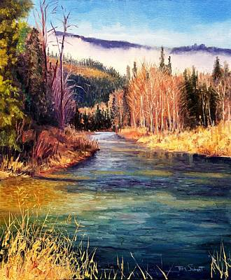 North Fork Painting - Little North Fork Cd'a River by Tom Siebert