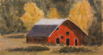 Painting - Little Old Hay Barn by Alan Mager