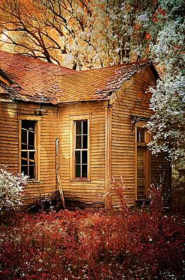 One Room School Houses Photograph - Little Old School House II by Julie Dant
