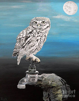 Painting - Little Owl On Tap by Eric Kempson