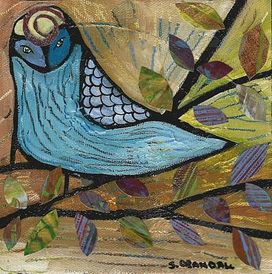 Olive Tree Mixed Media - Little Owl by Shannon Crandall