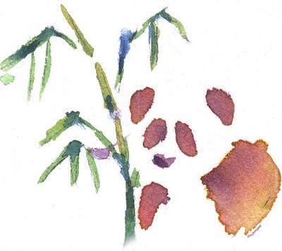 Painting - Little Panda by Brenda Salamone