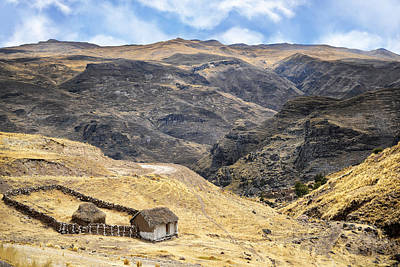 Little Peasant Hut In Mountains Art Print