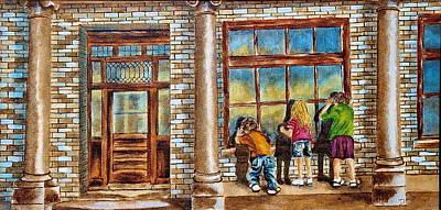 Peeper Painting - Little Peepers by Deborah Mays