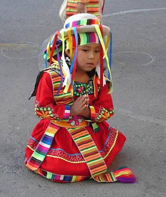 Photograph - Little Peruvian Dancer 2 by Lew Davis