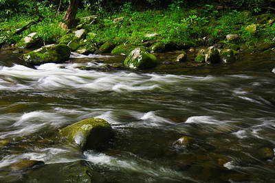 Little Piegon River Gatlinburg Tennessee Art Print