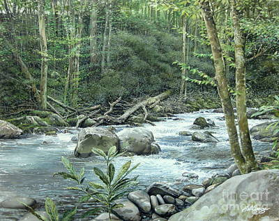 Painting - Little Pigeon River by Bob  George