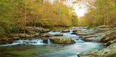 Little Pigeon River Flowing Art Print by Panoramic Images