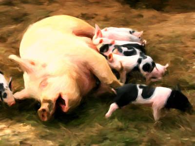 Little Piggies Art Print by Michael Pickett