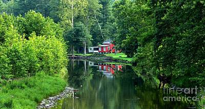 Photograph - Little Pine Creek House In The Woods by Adam Jewell