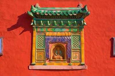 Tibetan Buddhism Painting - Little Potala Palace In Chengde 5 by Lanjee Chee