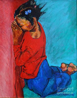 Little Pray-er Art Print by Charles M Williams