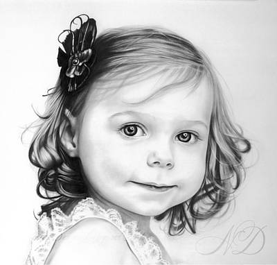 Drawing - Little Princess by Natasha Denger