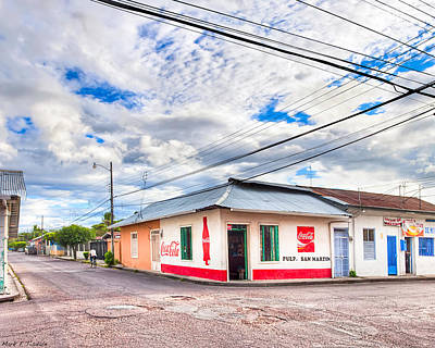 Coca-cola Signs Photograph - Little Pulperia On The Corner - Costa Rica by Mark E Tisdale
