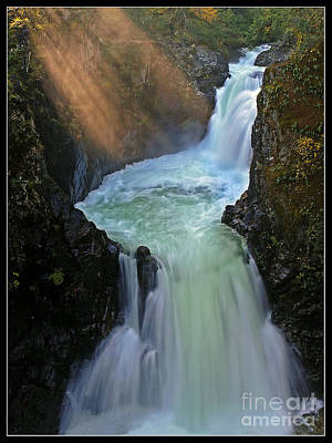 Sun Rays Over Little Qualicum Falls Art Print by Inge Riis McDonald
