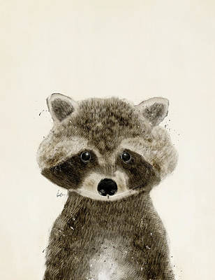 Raccoon Painting - Little Raccoon by Bri B