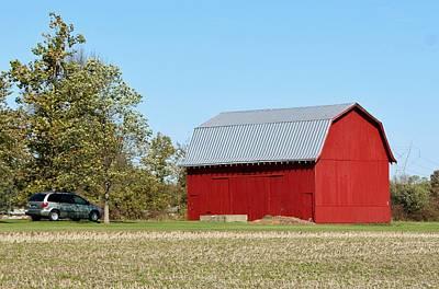 Little Red Barn Print by Nelson Skinner