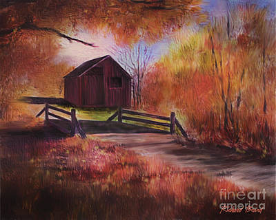 Mixed Media - Little Red Barn by Richard Beard