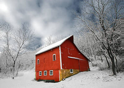 Little Red Barn Art Print by Todd Klassy