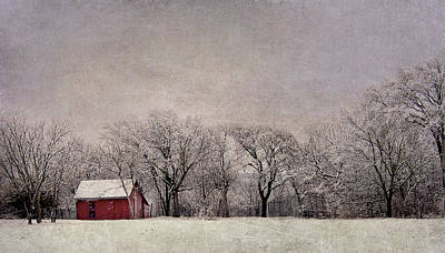 Photograph - Little Red Cabin In The Snow by David and Carol Kelly