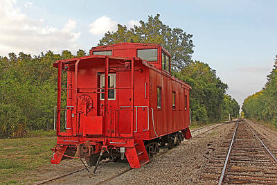 Photograph - Little Red Caboose 2 by HH Photography of Florida