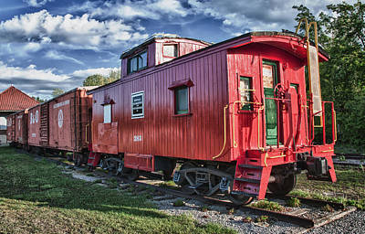 Photograph - Little Red Caboose by Guy Whiteley