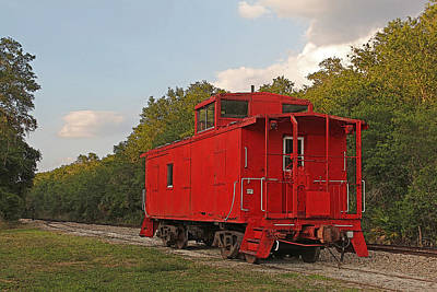 Photograph - Little Red Caboose by HH Photography of Florida