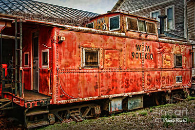Little Red Caboose Original by Louise Reeves