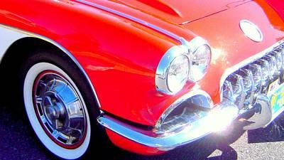 Little Red Corvette Art Print by Don Struke