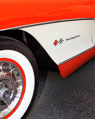 Car Auction Photograph - Little Red Corvette Palm Springs by William Dey