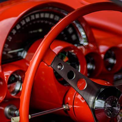 Photograph - Little Red Corvette by Randy Scherkenbach