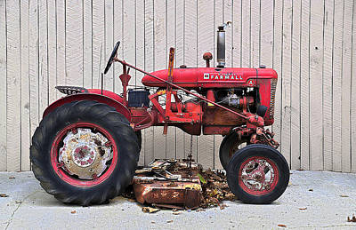 Art Print featuring the photograph Little Red Farmall by Craig T Burgwardt
