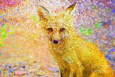 Vixen Digital Art - Little Red Fox by Claire Bull