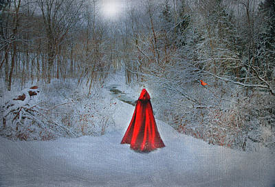 Little Red Girl Art Print by Mary Timman