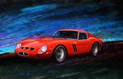 250 Gto Digital Art - Little Red In The Hood by Alan Greene
