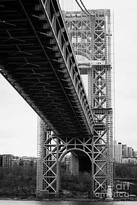 Little Red Lighthouse Beneath The George Washington Bridge Hudson River New York City Art Print